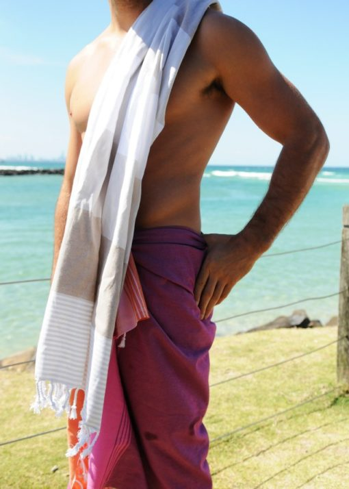 Avoca Raspberry Turkish Towel