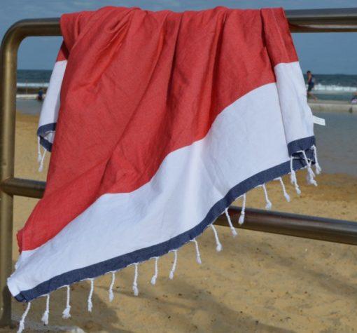 COOLUM Red Turkish Towel