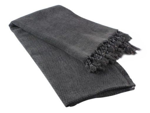 Grey Vintage Turkish Towel