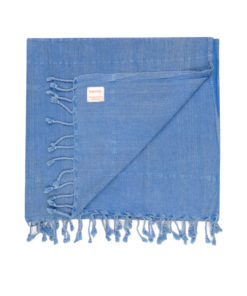 blue vintage wash Turkish Towel