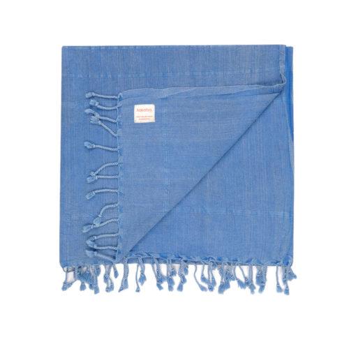blue vintage wash Turkish Towel