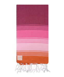 Raspberry Pink Orange Turkish Towel