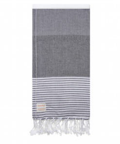 Grey and White Turkish Towel