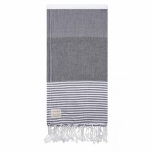 Grey and White Turkish Towel