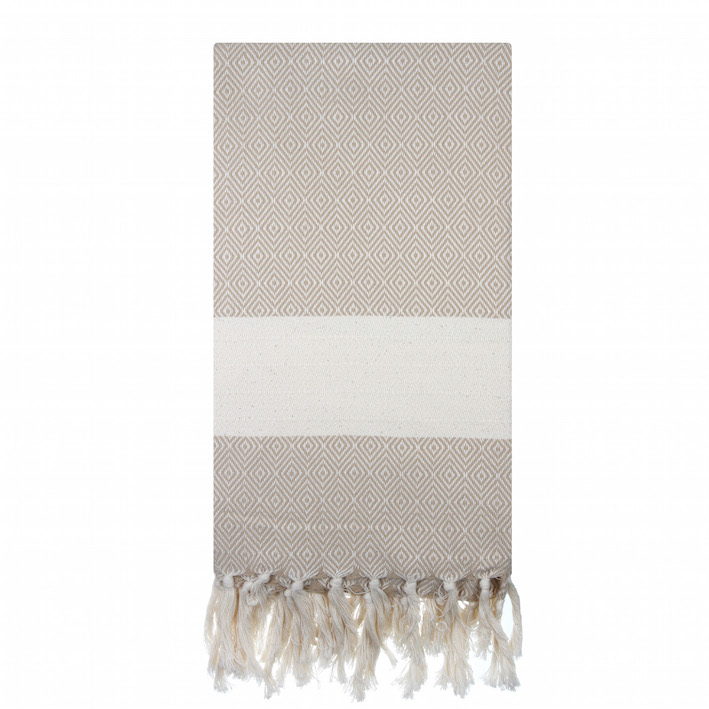 Hand Loomed Turkish Towels Neutral